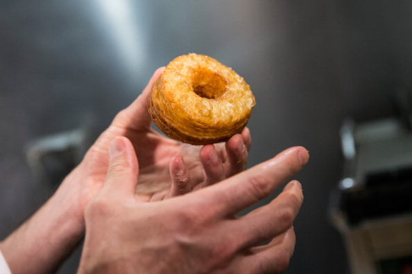 """Croissant-doughnut hybrid, known as the """"cronut.""""  (Photo by Andrew Burton/Getty Images)"""