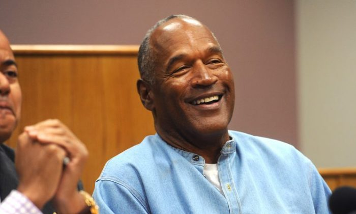 O.J. Simpson attends his parole hearing at Lovelock Correctional Center in Lovelock, Nev. on July 20, 2017. Simpson was serving a nine to 33 year prison term for a 2007 armed robbery and kidnapping conviction. (Photo by Jason Bean-Pool/Getty Images)