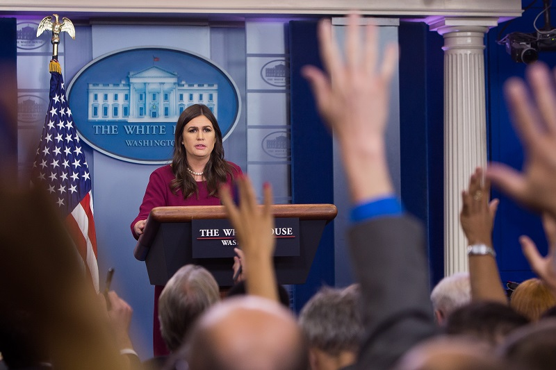 White House Press Secretary chokes back tears while discussing Las Vegas massacre