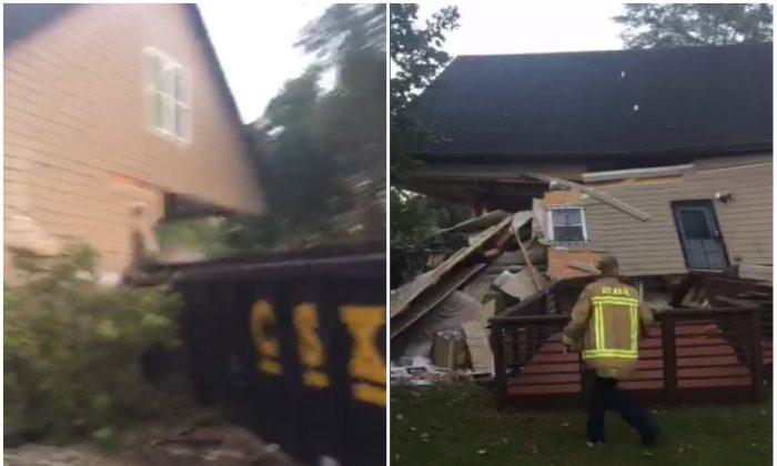 The scene of a train derailment in Atlanta, Ga. (Atlanta Fire Rescue)