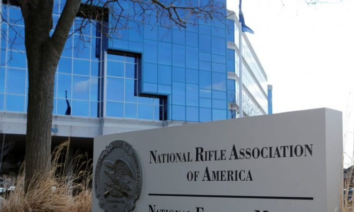 A sign of the National Rifle Association (NRA) is seen in front of their headquarters in Fairfax, Virginia, U.S. on March 14, 2013. (REUTERS/Larry Downing)