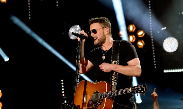 Singer-songwriter Eric Church (L) performs onstage during day 2 of the 2017 CMA Music Festival  in Nashville, Tennessee on June 9, 2017. (Rick Diamond/Getty Images)