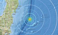 6.0-Magnitude Earthquake Hits Just East of Japan