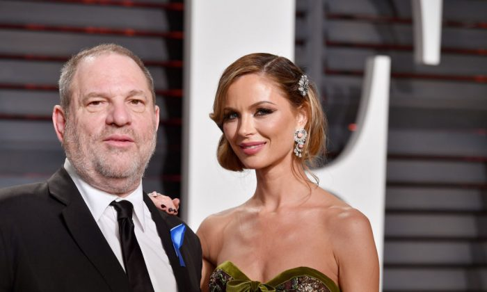 Harvey Weinstein and his wife Georgina Chapman attend the 2017 Vanity Fair Oscar Party on Feb. 26, 2017 in Beverly Hills, California.  Chapman announced she was leaving Weinstein on Oct. 10 amidst growing allegations of the movie moguls misconduct. (Pascal Le Segretain/Getty Images)