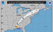 Tropical Storm Nate Hits Mississippi, Passes Through Alabama as Tropical Depression