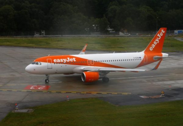 An EasyJet aircraft is ready for take off at Cointrin airport in Geneva, Switzerland on June 30, 2017. (Reuters/Denis Balibouse)