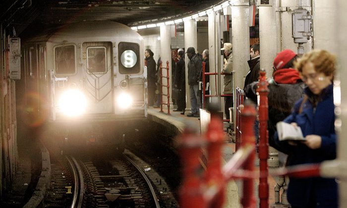 Commuters inside a subway station in New York City.  (Stephen Chernin/Getty Images)