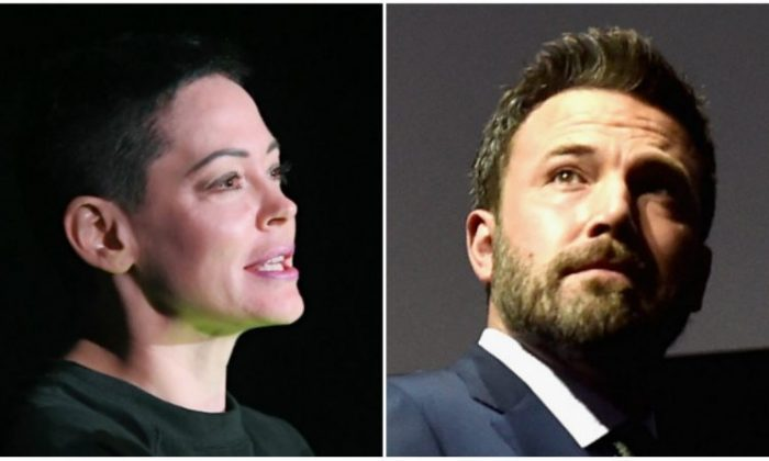 Rose McGowan (L) and Ben Affleck (R) (Getty Images)