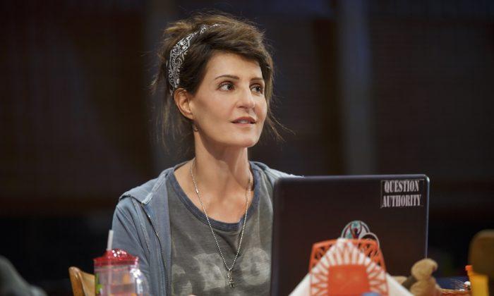 """Nia Vardalos plays Sugar, an advice blogger, in """"Tiny Beautiful Things."""" (Joan Marcus)"""