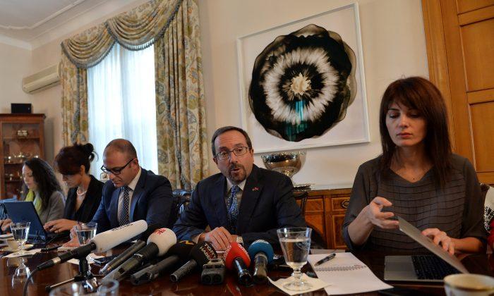 U.S. Ambassador to Turkey John Bass speaks during a meeting with media members in Ankara, Turkey, Oct. 11. (REUTERS/Stringer)