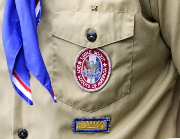 An Eagle Scout patch is pictured in Orlando, Florida in this May 30, 2012 file photograph. (Reuters/David Manning/Files)