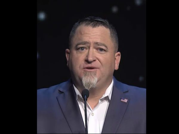 Luis Elizondo speaks at the launch of To The Stars Academy of Arts & Science on Oct. 11, 2017. (Screenshot/YouTube/To The Stars Academy of Arts & Science)