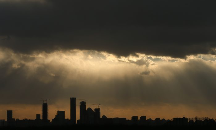 The skyline of the central business district in Beijing on Dec. 2, 2015. (Lintao Zhang/Getty Images)