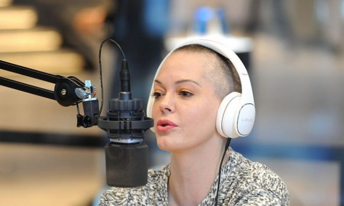 Rose McGowan at the live Talkhouse broadcast at Samsung 837 on March 9, 2016, in New York City.  (Craig Barritt/Getty Images for Samsung)