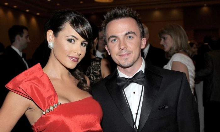 Actress Elycia Marie (L) and actor Frankie Muniz at an event in Phoenix, Arizona on March 19, 2011.(Charley Gallay/Getty Images for Celebrity Fight Night)