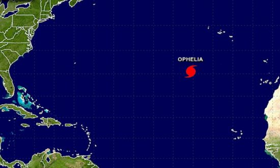 Hurricane Ophelia Forms, Could Pose a Threat to UK and Ireland