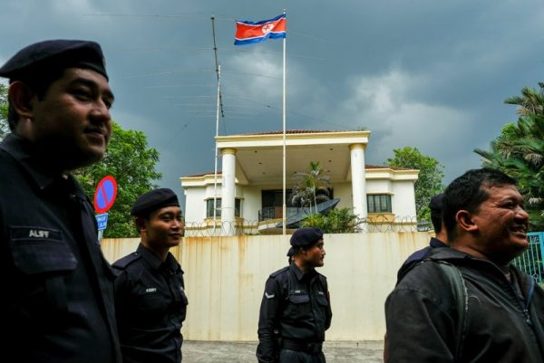 Malaysian Police officers gather before a protest organized by Members of the youth wing of the National Front, Malaysia's ruling coalition, in front of the North Korea embassy, following the murder of Kim Jong Nam, in Kuala Lumpur, Malaysia, February 23, 2017. (Reuters/Athit Perawongmetha/File Photo)