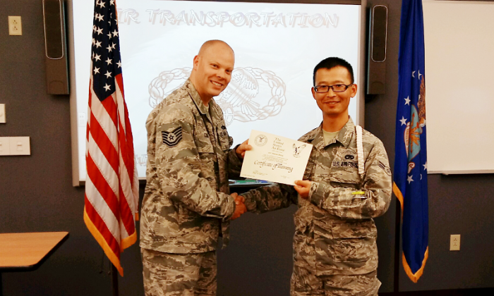 Haiyan Zhang graduates from USAF Technical Training School. (Provided by the author)