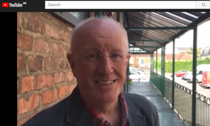 Chris Hickey is pictured in a still of a YouTube video posted by SWNS TV (SWNS/YouTube)
