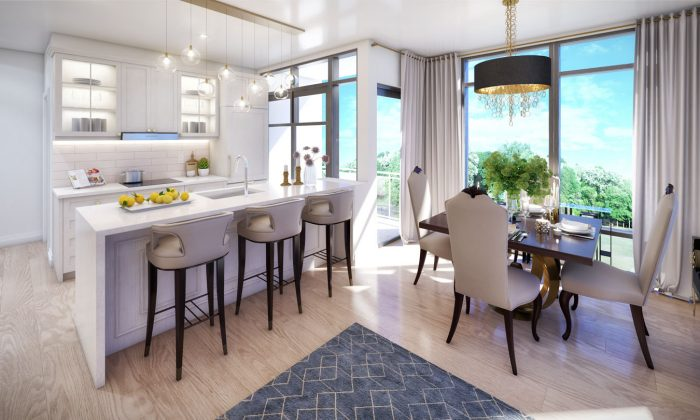 A kitchen and dining area  in one of Solmar's Condos.  (Courtesy of Solmar Development Corporation)