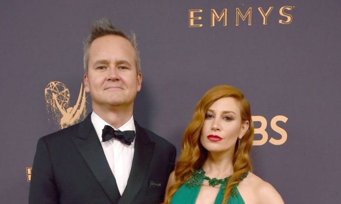 Head of Amazon Studios Roy Price (L) and Lila Feinberg attend the 69th Annual Primetime Emmy Awards at Microsoft Theater in Los Angeles on Sept., 17, 2017.  (Photo by Alberto E. Rodriguez/Getty Images)