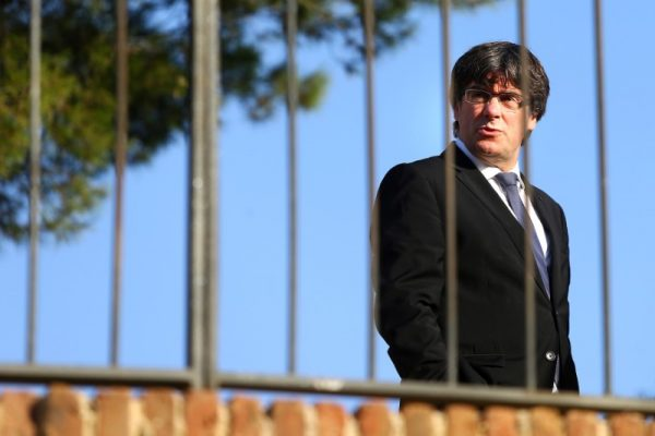 Catalan President Carles Puigdemont attends a memorial event at the tomb of former president of the Generalitat, the regional government, Lluis Companys in Barcelona, Spain, October 15, 2017. (Reuters/Ivan Alvarado)