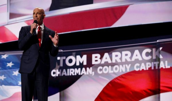 Tom Barrack, former Deputy Interior Undersecretary in the Reagan administration, delivers a speech on the fourth day of the Republican National Convention on July 21, 2016 at the Quicken Loans Arena in Cleveland, Ohio. (Chip Somodevilla/Getty Images)