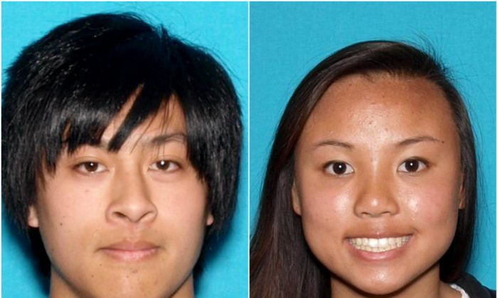 Joseph Orbeso (L) and Rachel Nguyen went missing in Joshua Tree National Park in California on July 27, 2017. (State of California Department of Justice)