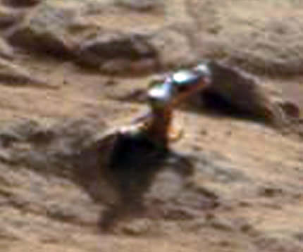 A close-up from the image above, showing what some have said is a handle. (NASA)