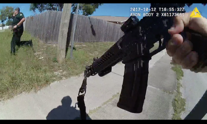 Body camera footage captured the shootout between police and Brian Disario on Oct. 12. (Courtesy of the Pasco County Sheriff's Office)