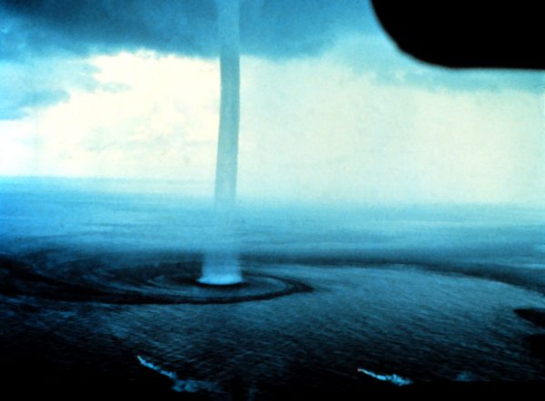 A waterspout near Florida. (Dr. Joseph Golden, NOAA)