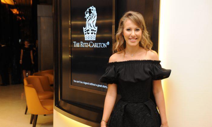 Actress Ksenia Sobchak attends the Capital Partners' Ritz-Carlton, Almaty Opening at Ritz-Carlton Hotel in Almaty, Kazakhstan on Nov.2, 2013. (Photo by Vladimir Tretyakov/Getty Images for Capital Partners)