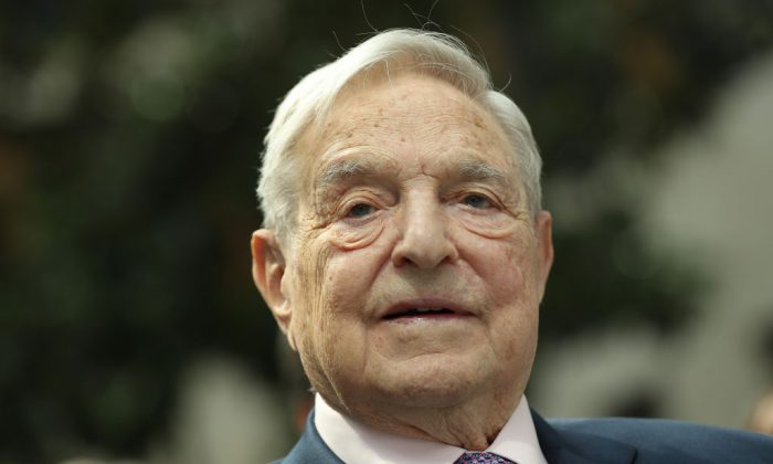 Financier and philanthropist George Soros attends the official opening of the European Roma Institute for Arts and Culture (ERIAC) at the German Foreign Ministry in Berlin on June 8, 2017. (Sean Gallup/Getty Images)