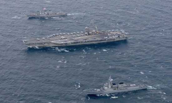 US Carrier Patrols Off Korean Peninsula in Warning to Pyongyang