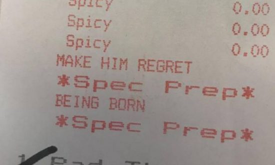 Customer Finds Curious Note on His Extra Spicy Noodles