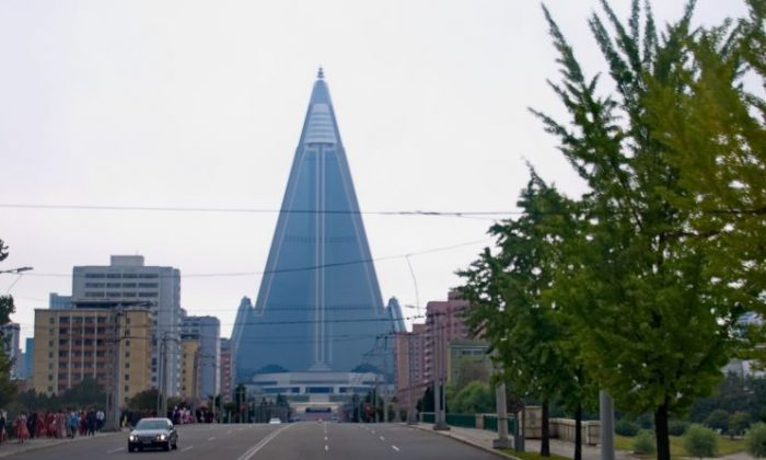 Ryugyong Hotel in Pyongyang, North Korea.(Uwe Brodrecht via Creative Commons Attribution-Share Alike 2.0 Generic license.)