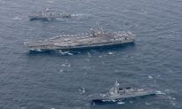 US Carrier Patrols Off Korean Peninsula Announcing It's Ready to Defend South Korea