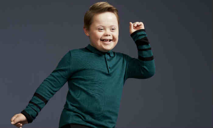 Joseph Hale, 11, features in River Island's new campaign launched on Oct. 20 2017. (River Island)