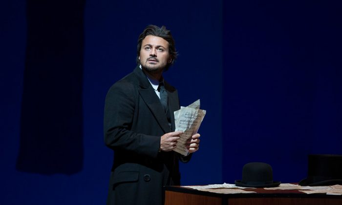"""Vittorio Grigolo is perfect for the role of E.T.A. Hoffmann in Jacques Offenbach's  """"Les Contes d'Hoffmann."""" (Marty Sohl/Metropolitan Opera)"""