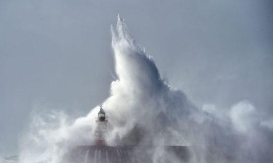 Storm Brian Batters Ireland and Hits British Coastal Towns