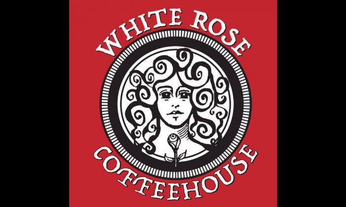 Logo of the White Rose Coffee Shop in Lynn, Massachusetts. (Yelp/Kato Mele)