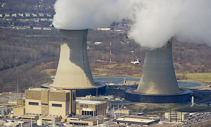 An aerial view of the Limerick Generating Station, a nuclear power plant in Pottstown, Pa., March 25, 2011. Two congressional committees are looking into a controversial deal that gave a Russian company 20percent control of the U.S. uranium supply. (Stan Honda/AFP/Getty Images)