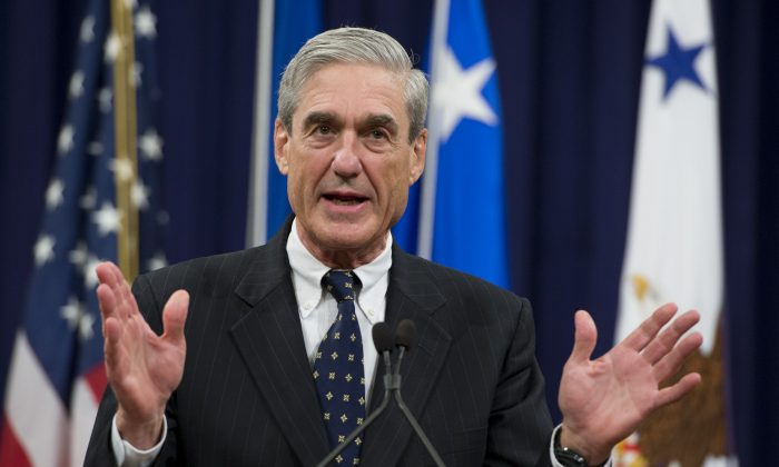 Robert Mueller at the Department of Justice on Aug. 1, 2013. (Saul Loeb/AFP/Getty Images)