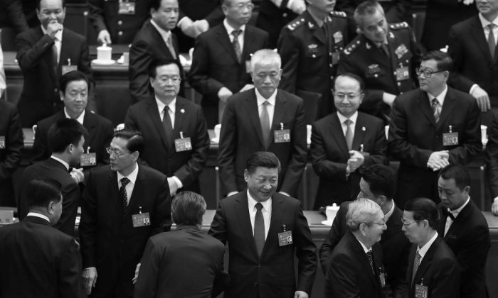 Chinese leader Xi Jinping waves as he leaves after the closing of the 19th Communist Party Congress at the Great Hall of the People in Beijing, China on Oct. 24, 2017. (Lintao Zhang/Getty Images)
