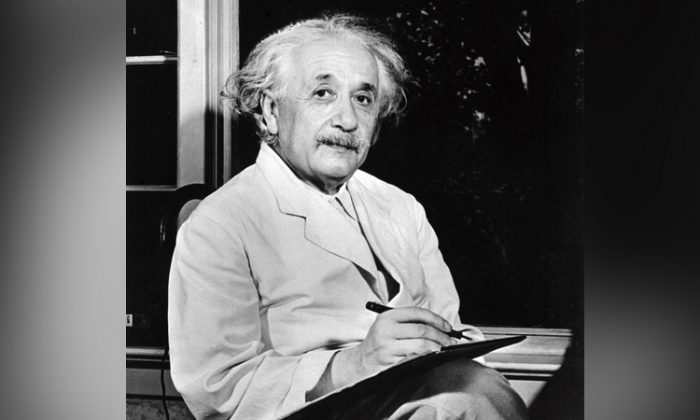 Undated portrait of German-born Swiss-US physicist Albert Einstein (1879-1955), author of theory of relativity, awarded the Nobel Prize for Physics in 1921. (AFP/Getty Images)