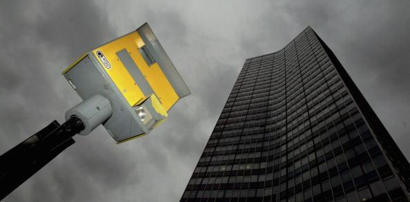"A speed camera on a central London road. A new report re-ignites the debate of whether automated technology is creating ""cash cows"" for local councils and the police. (Ian Waldie/Getty Images)"