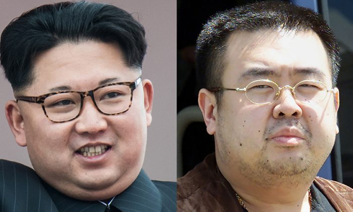 Current North Korean leader Kim Jong-Un and his now-dead half-brother Kim Jong-Nam, both sons of late-North Korean leader Kim Jong Il (Ed Jones/Toshifumi Kitamura/AFP/Getty Images)
