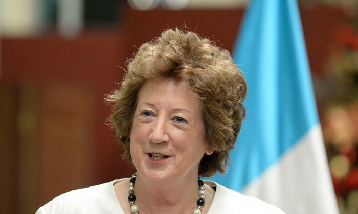 Baroness Anelay has resigned from the Brexit department citing a worsening helicopter injury. (ORLANDO ESTRADA/AFP/Getty Images)