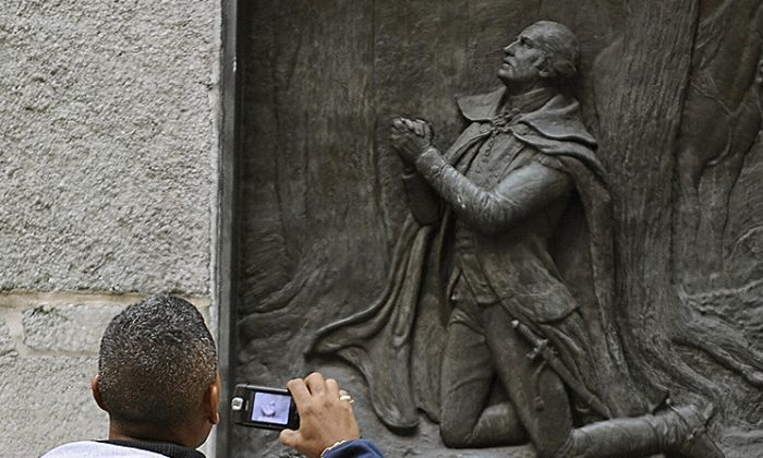 Plaque honoring him must go — George Washington's church