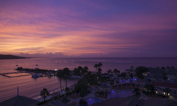 A sunset view from the Moon Palace resort in Ocho Rios, Jamaica. (Annie Wu/The Epoch Times)